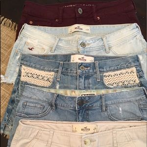 Hollister, Roxy and Abercrombie shorts, lot of 5